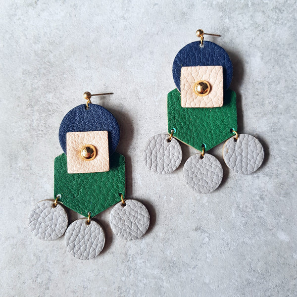 Tribal Earrings (GREEN)