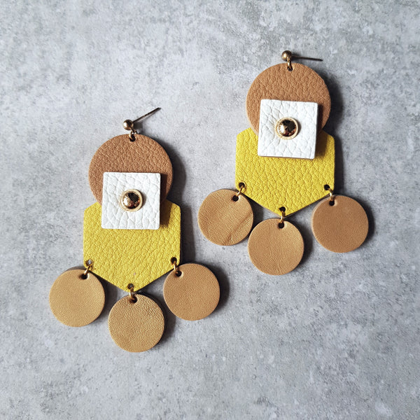 Tribal Earrings (YELLOW)