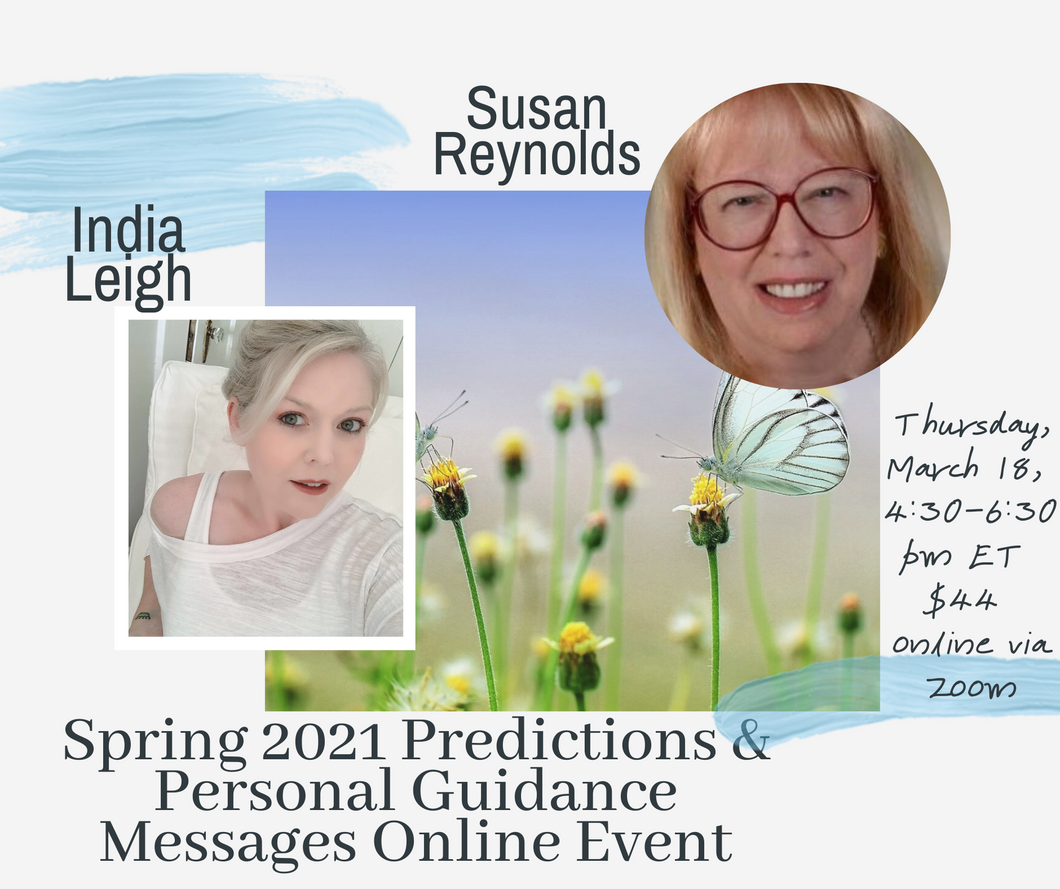 Spring 2021 Predictions Online Event by Susan Reynolds and India Leigh March 18