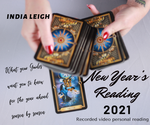 New Year's Recorded Video Personal Reading by India Leigh