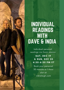 Personal Readings With David Hanzel & India Leigh Dec 19-20