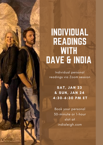 Personal Readings With David Hanzel & India Leigh Jan 23-24