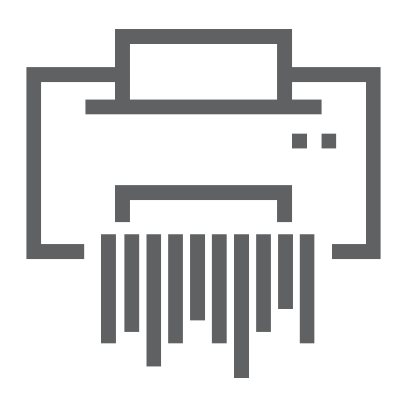 Document destruction icon