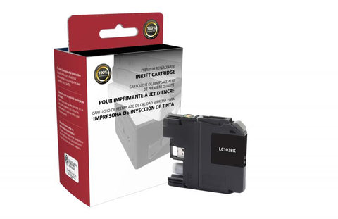 Clover Technologies Group, LLC Non-OEM New High Yield Black Ink Cartridge for Brother LC103XL
