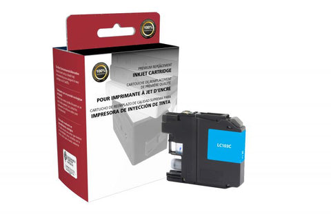 Clover Technologies Group, LLC Non-OEM New High Yield Cyan Ink Cartridge for Brother LC103XL