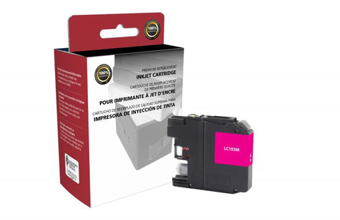 Clover Technologies Group, LLC Non-OEM New High Yield Magenta Ink Cartridge for Brother LC103XL