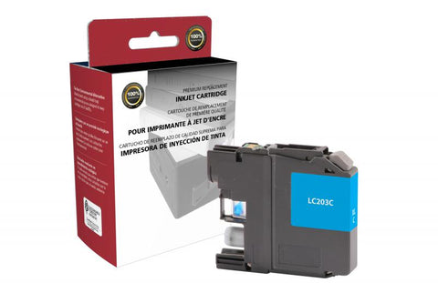 Clover Technologies Group, LLC Compatible High Yield Cyan Ink Cartridge for Brother LC203