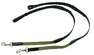 Leather Side Reins with Elastic