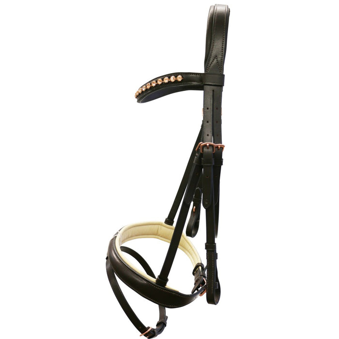 Jeremy and Lord Rose Gold Snaffle Bridle