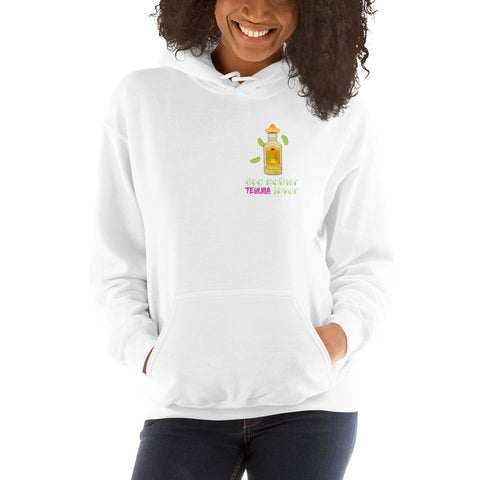 Dog Mother Tequila Lover Hoodie - Dog Mom Print - Slogan Hoodie