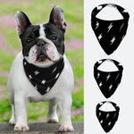 Lightning Print Dog Bandana Collar