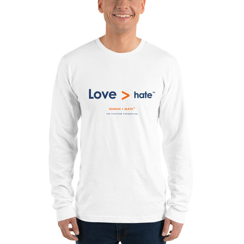 Human Math - Love is Greater Long sleeve t-shirt