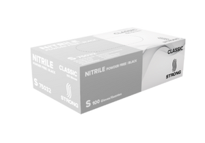 STRONG General Purpose Classic Black Nitrile Gloves - Powder Free