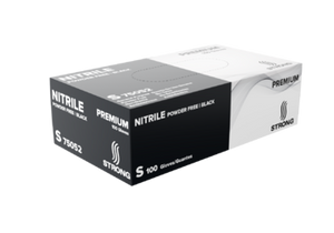 STRONG General Purpose Black Nitrile Gloves - Premium - Powder Free