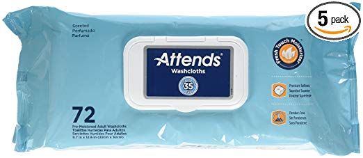 Attends Washcloths Convenience Pak