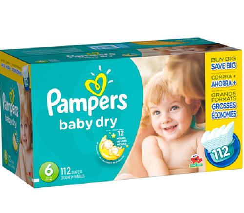 Pampers Baby Dry Diapers - Size 6 - 112 Count