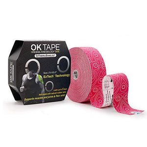 OKTape Kinesiology Tape,  Pro Pink, Bulk Packaging