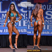 Romina Bass, Teal Heavy Crystal Design Competition Bikini.
