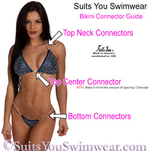 Full Crystal Competition Bikini, Multi-Color SYCS111