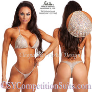 Cleopatra Competition Bikini, Champagne Sequin with Swarovski Crystals