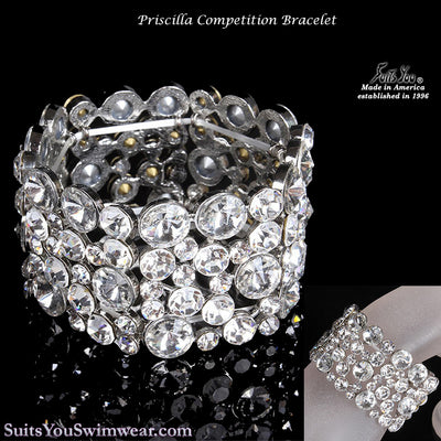 The Priscilla, Competition Bracelet for Bikini or Figure