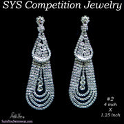 Large Chandelier Earrings for bikini competition or figure competitions.