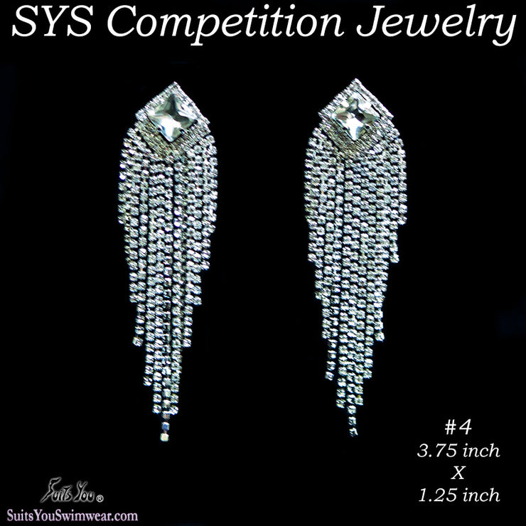 Chandelier Earrings for Bikini competition or figure suits