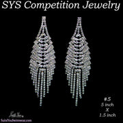 Competition Earrings for bikini or figure competition, chandelier