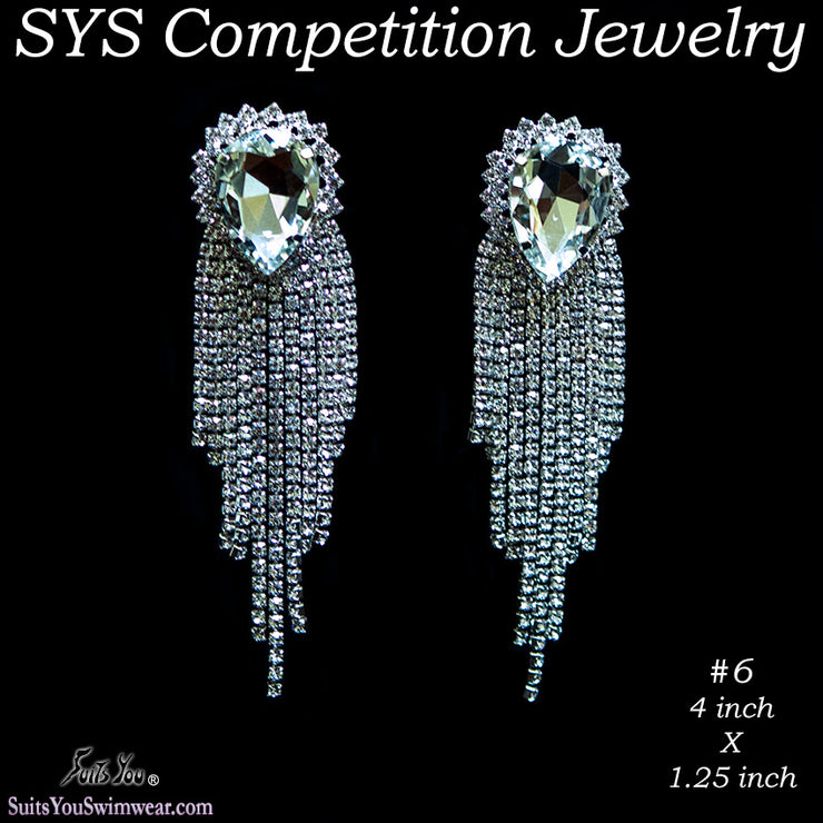 Competition Earrings for bikini or figure competition, chandelier style earrings