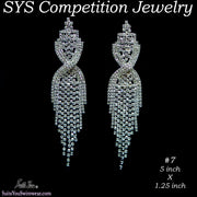 Competition Earrings for bikini or figure competition, chandelier style