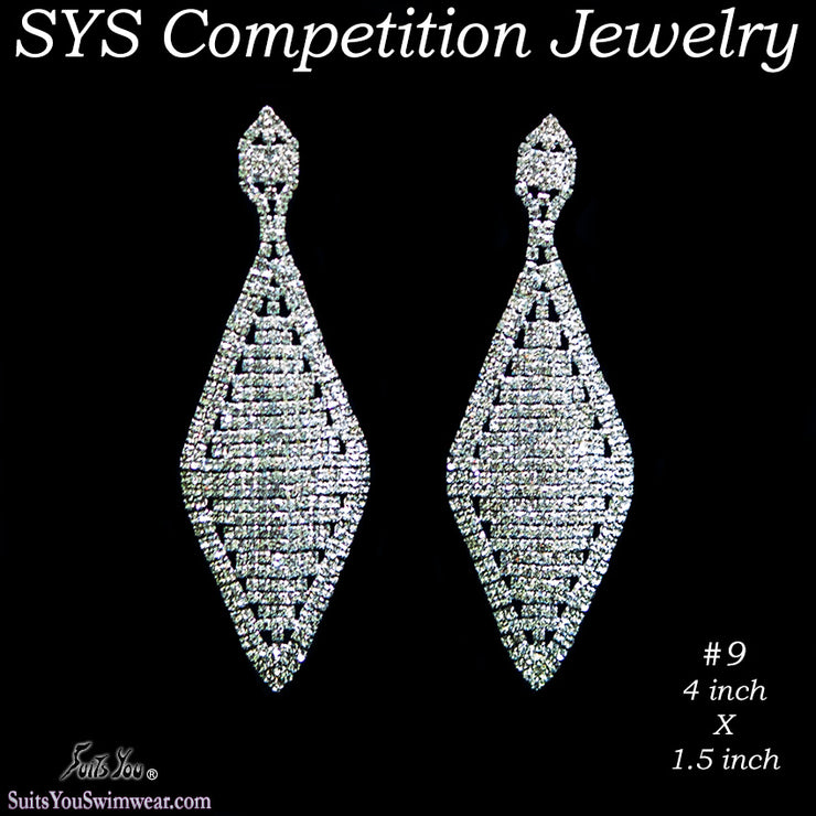 Large Competition Earrings for bikini or figure competition