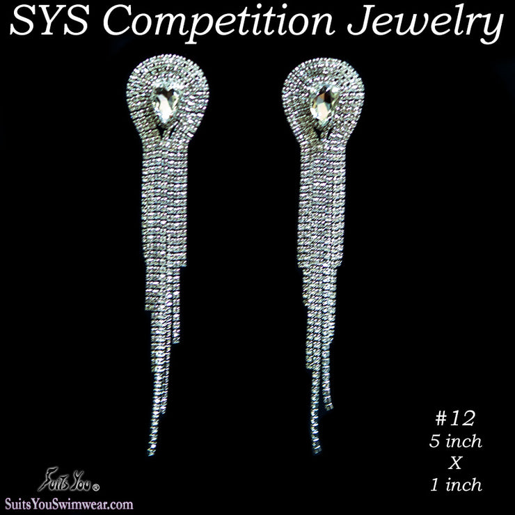 Large Chandelier Earrings for bikini competition or figure competition.