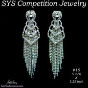 Competition Earrings for bikini or figure competition, chandelier earrings