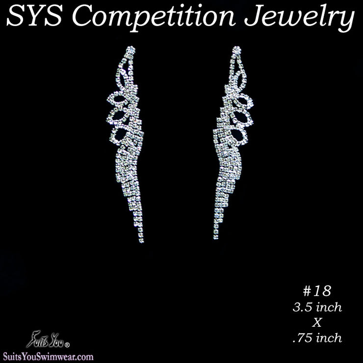 Competition Earrings 6 Medium Styles to choose from.