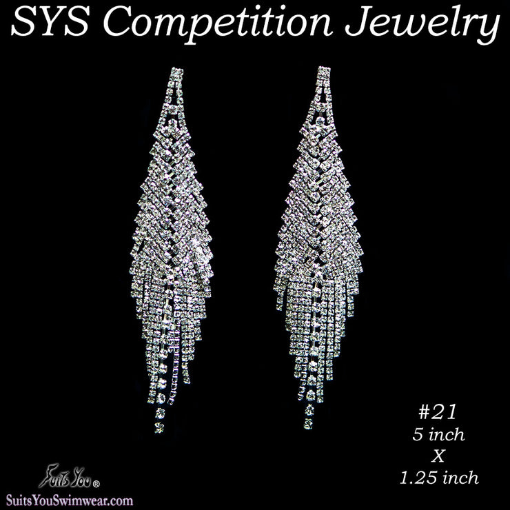Chandelier Competition Earrings for bikini or figure competition