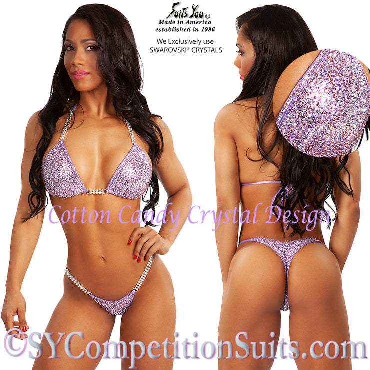 Marcia Goncalves, Cotton Candy Competition Bikini, Lavender Crystal Design