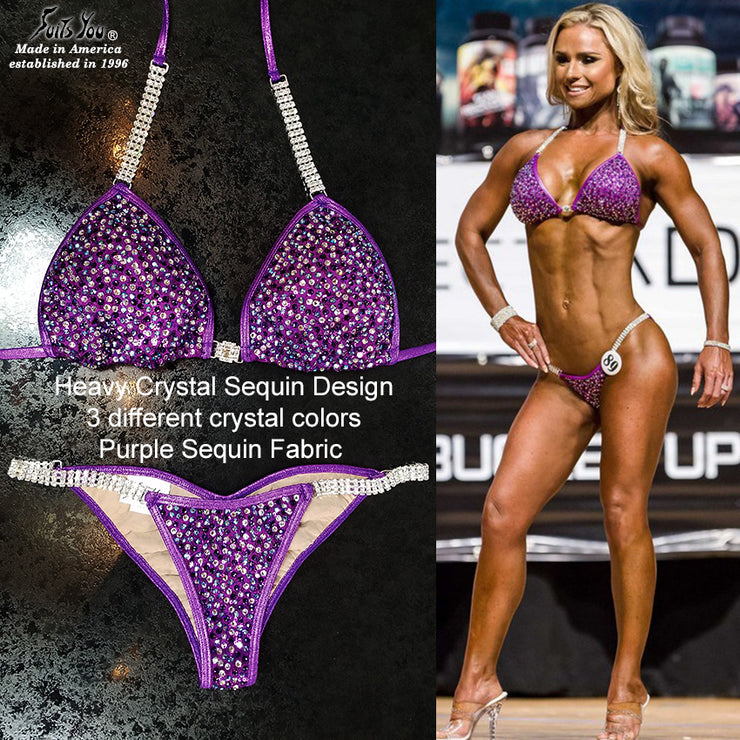 Crystal Sequin Competition Bikini, Courtney