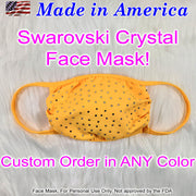 Custom Crystal Face Mask, Made In America!