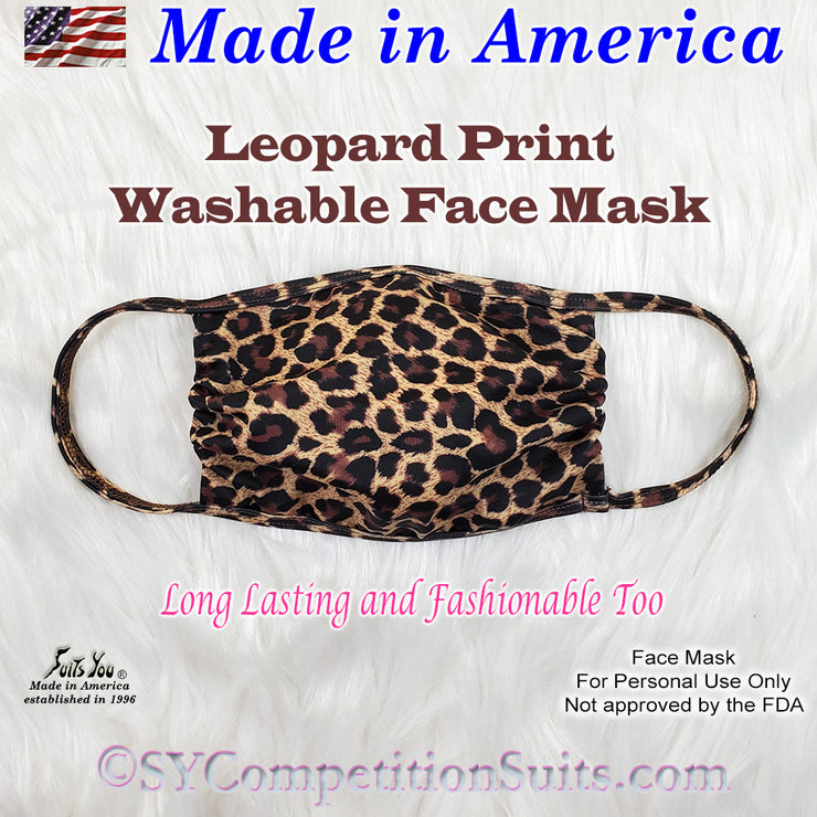Leopard Print Face Mask, made in America