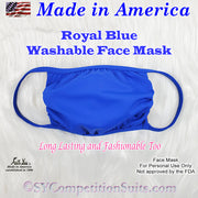 Washable Face Mask, made in America, Royal Blue