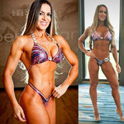 Multi Swirl Design Figure Suit or Physique Suit for IFBB or NPC, Paula