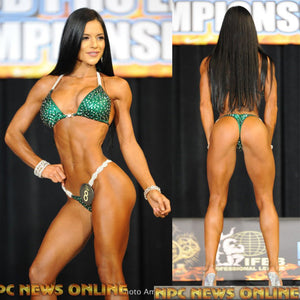 Competition Bikini, Gorgeous 2 Color Heavy Crystal, IFBB Pro Jasmine Fernandez