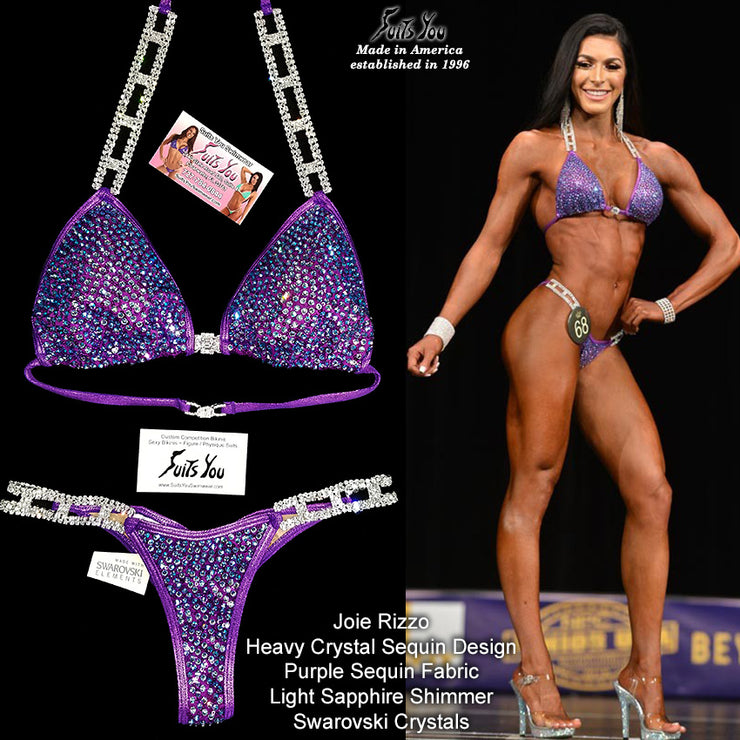 Crystal Sequin Competition Bikini, Joie Rizzo