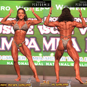 IFBB Pro Lisa Ward. Physique Suit or Figure Suit, Velvet Glitter and Crystals