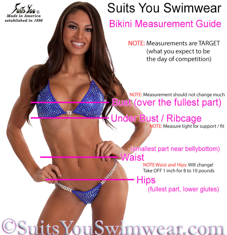 Color Crystal Sequin Competition Bikini, original crystal design, SYCS201