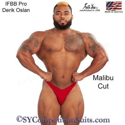 Men's Bodybuilding Suits, Malibu Cut. NPC or IFBB posing suits