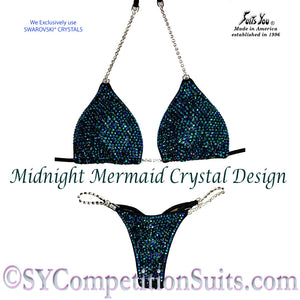 Midnight Mermaid Competition Bikini, pro-level bikini