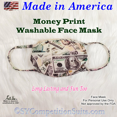 Money Print Face Mask, made in America