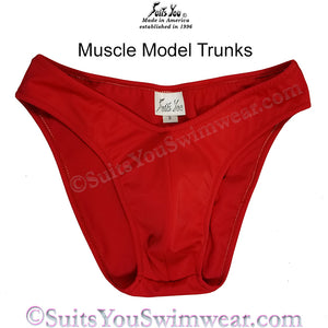 Muscle Model Trunks, Men's Posing Suits, Men's Bodybuilding