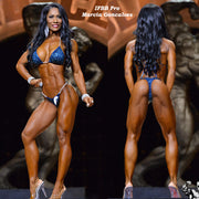 IFBB Pro Marcia Goncalves, Arnold 2019, Navy Dream Competition Bikini, Pro-Level Suit